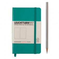 Книга для записей POCKET  А6, изумрудный 185 стр., точка , Leuchtturm1917