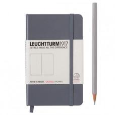 Книга для записей POCKET  А6 антрацит 185 стр., точка , Leuchtturm1917