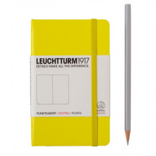 Книга для записей POCKET  А6, лимонный 185 стр., точка , Leuchtturm1917