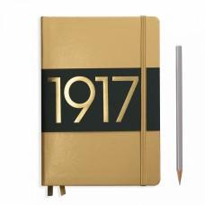 Книга для записей MEDIUM  А5, золотой 249 стр., нелинованный , Leuchtturm1917