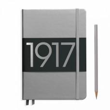 Книга для записей MEDIUM  А5, серебрянный 249 стр., нелинованный , Leuchtturm1917