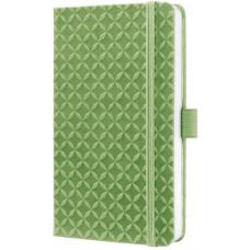 """Блокнот SIGEL """"Jolie Flair"""", А6, тв. обложка, иск.кожа, зеленый, линия, 174 стр."""