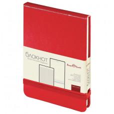 Бизнес-Блокнот А6, 100 л., тв.обложка, открытие вверх, BRUNO VISCONTI, красный