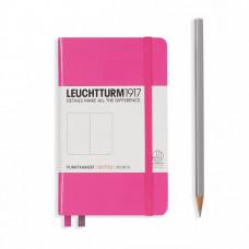 Книга для записей POCKET  А6, розовый 185 стр., точка , Leuchtturm1917