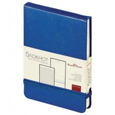 Бизнес-Блокнот А6, 100 л., твердая обложка, открытие вверх, Bruno Visconti, синий