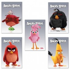 """Блокнот А7, 48 л., склейка, 3-х цветный блок, HATBER, """"ANGRY BIRDS"""""""