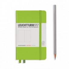 Книга для записей MEDIUM  А5, лайм 249 стр., клетка , Leuchtturm1917