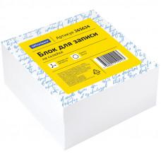 Блок для записи на склейке OfficeSpace, 8*8*4см, белый