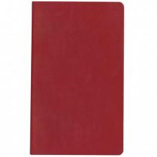 """Бизнес-блокнот А5, ЭКО-кожа, клетка/тонированный, HATBER, 128 л., """"SARIF-красный"""""""