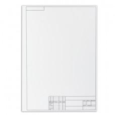 Папка для черчения А3, 297х420 мм, 10 л., ПИФАГОР, рамка с вертикальным штампом, блок 160 г/м2