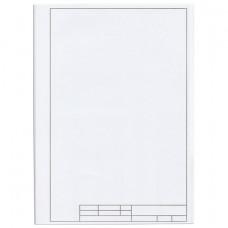 Папка для черчения А4, 210х297 мм, 10 л., ПИФАГОР, рамка с вертикальным штампом, блок 160 г/м2