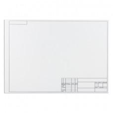Папка для черчения А3, 297х420 мм, 10 л., ПИФАГОР, рамка с горизонтальным штампом, блок 160 г/м2