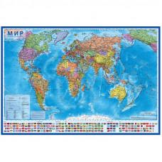 """Карта """"Мир"""" политическая Globen, 1:28млн., 1170*800мм, интерактивная, с ламинацией, в тубусе"""