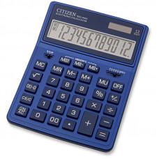 Калькулятор настольный Citizen SDC444XRNVE, 12 разрядов, темно-синий