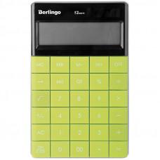 """Калькулятор настольный Berlingo """"Power TX"""", 12 разр., двойное питание, 165*105*13мм, зеленый"""
