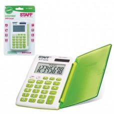Калькулятор STAFF карманный STF-6238, зеленый, 8 разрядов, двойное питание