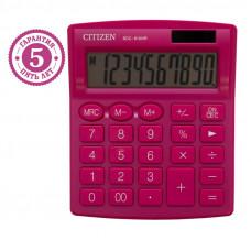 Калькулятор настольный Citizen SDC810NRPKE, 10 разр., двойное питание, 127*105*21мм, розовый