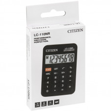 Калькулятор карманный Citizen LC-110NR, 8 разрядов, питание от батарейки, 58*88*11мм, черный