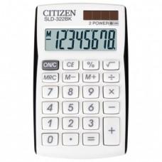 Калькулятор CITIZEN карманный SLD-322BK, 8 разрядов, двойное питание