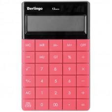 """Калькулятор настольный Berlingo """"Power TX"""", 12 разр., двойное питание, 165*105*13мм, темно-розовый"""