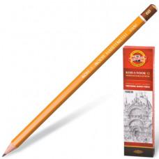 Карандаш чернографитный KOH-I-NOOR 1500, 1 шт., 8B, без резинки