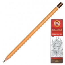 Карандаш чернографитный KOH-I-NOOR, 1 шт., 1500, 7B, без резинки