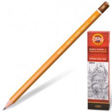 Карандаш чернографитный KOH-I-NOOR 1500, 1 шт., 5B, без резинки