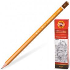 Карандаш чернографитный KOH-I-NOOR 1500, 1 шт., 4B, без резинки