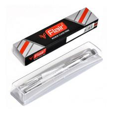 Автоматическая шариковая ручка Miami, серебряный металлический корпус, в футляре, цвет чернил: синий