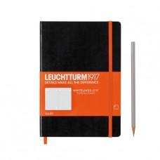 """Книга для записей Leuchtturm1917 """"WHITELINES LINK MEDIUM"""" A5, черный , 249 стр., ЛИНЕЙКА."""