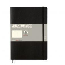 Книга для записей COMPOSITION B5 на 121 страницу нелинованные, BLACK. Leuchtturm1917