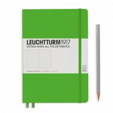 Книга для записей MEDIUM A5 на 249 страниц в точку, FRESH GREEN. Leuchtturm1917