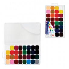 """Краски акварельные ЛУЧ """"Классика"""", 32 цвета, медовые, без кисти"""