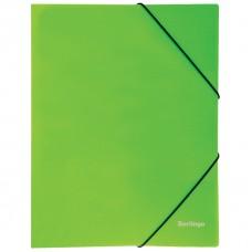 """Папка на резинке Berlingo """"Neon"""" А4, 500мкм, неоновая зеленая"""