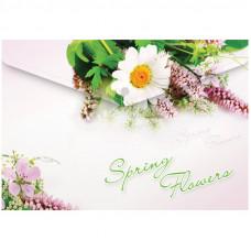 "Папка-конверт на кнопке Berlingo ""Spring Flowers"", А4, 180мкм"
