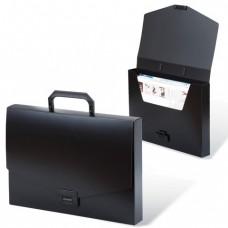"""Портфель пластиковый BRAUBERG """"Energy"""", А4, без отделений, черный"""