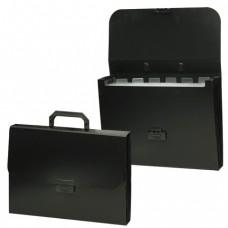 """Портфель пластиковый BRAUBERG """"Energy"""", А4, 256х330 мм, 6 отделений, черный"""