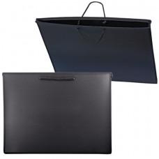 Папка для рисунков и чертежей, А3, 460х343 мм, с ручками, пластиковая, черна