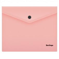 """Папка-конверт на кнопке Berlingo """"Instinct"""", А5+, 180мкм, фламинго"""