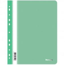 Папка-скоросшиватель пластик. перф. Berlingo, А4, 180мкм, зеленая