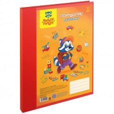 Папка-портфолио пластиковая А4 Мульти-Пульти, на 2 кольцах для дошкольника, 10 файлов