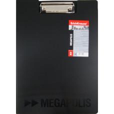 Папка-планшет А4, пластиковая черная