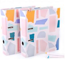 """Папка-регистратор MESHU """"Pastel colors"""", набор 2шт., 70мм, офсет"""