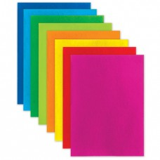 Цветной фетр для творчества, А4, BRAUBERG/ОСТРОВ СОКРОВИЩ, 8 листов, 8 цветов, толщина 2 мм, яркие цвета