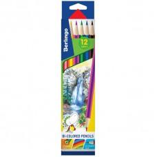 """Карандаши с двухцветным грифелем Berlingo """"Водопад"""", 06шт., 12цв."""