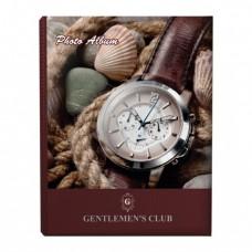 """Фотоальбом BRAUBERG на 200 фотографий 10х15 см, твердая обложка, """"Часы"""", коричневый"""