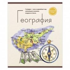 Тетрадь предметная ЗНАНИЕ-СИЛА 48 л., обложка картон, ГЕОГРАФИЯ, клетка