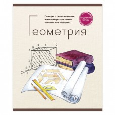Тетрадь предметная ЗНАНИЕ-СИЛА 48 л., обложка картон, ГЕОМЕТРИЯ, клетка
