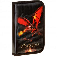 """Пенал 1 отделение, 190*115 ArtSpace """"Dragon"""", ламинированный картон, фольга"""