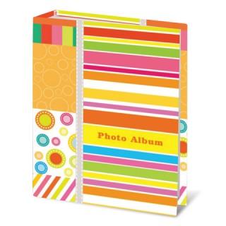 """Фотоальбом BRAUBERG на 100 фотографий 10х15 см, твердая обложка, """"Абстракция"""""""